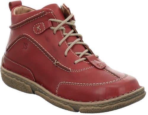 Josef Seibel Neele 52 Ladies Ankle Boots Red